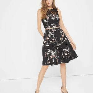 NWT Floral Print Fit and Flare Dress